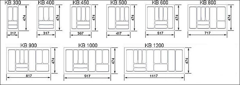 Orga-Box® 30-120Cm Besteckeinsatz Besteckkasten Schubkasten