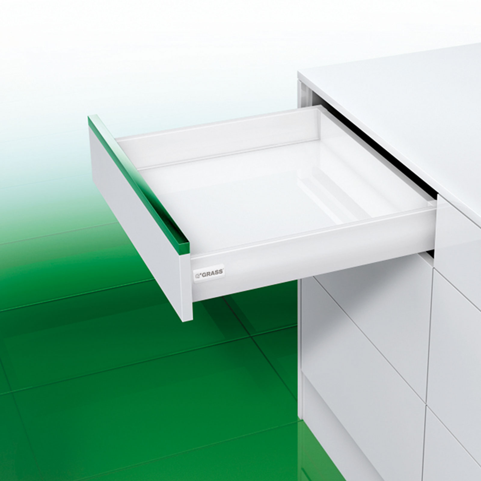 GRASS DWD-XP Schubladensystem 40 kg weiss mit SoftClose ...