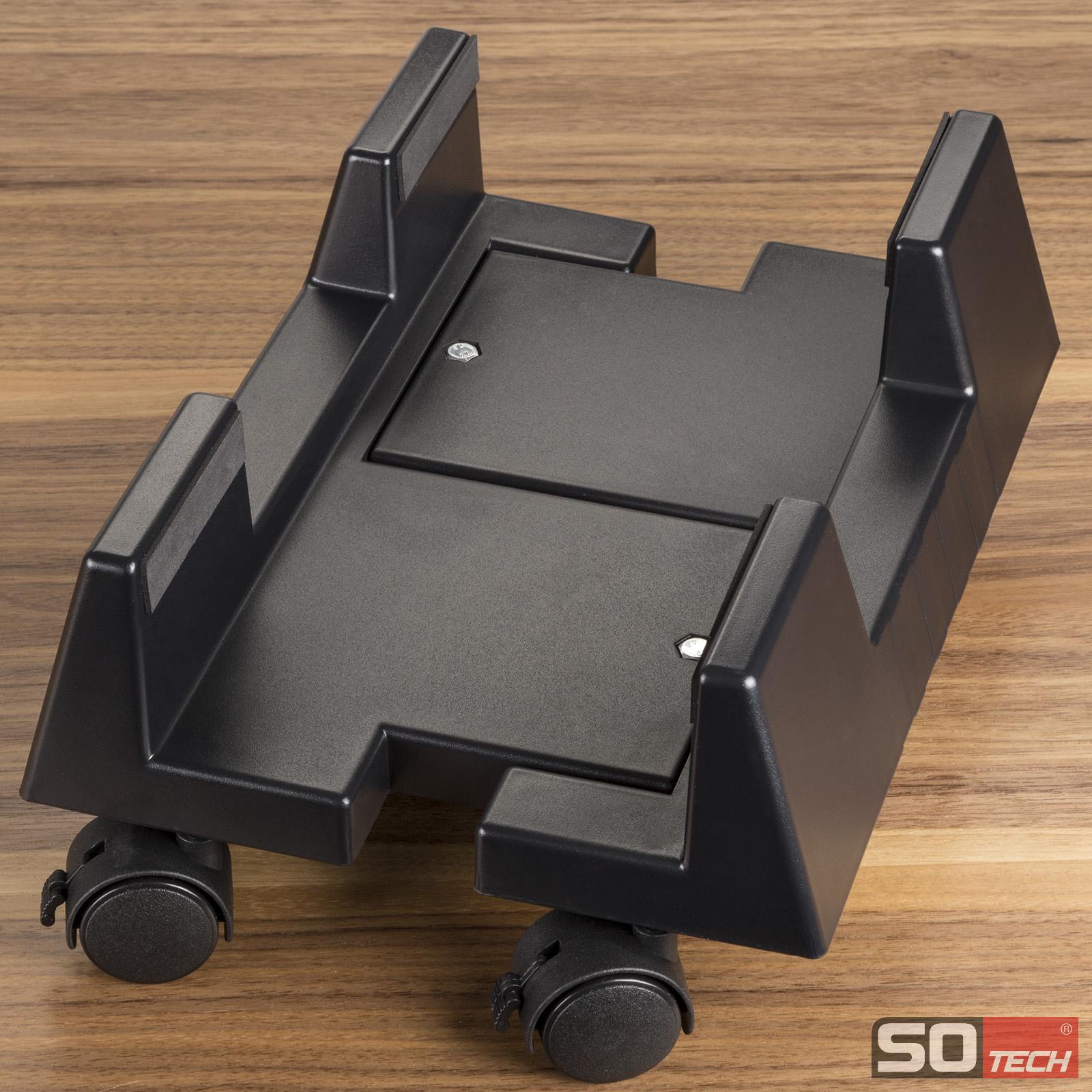 computerst nder pc st nder rollbar verstellbar feststellbar schwarz o grau ebay. Black Bedroom Furniture Sets. Home Design Ideas