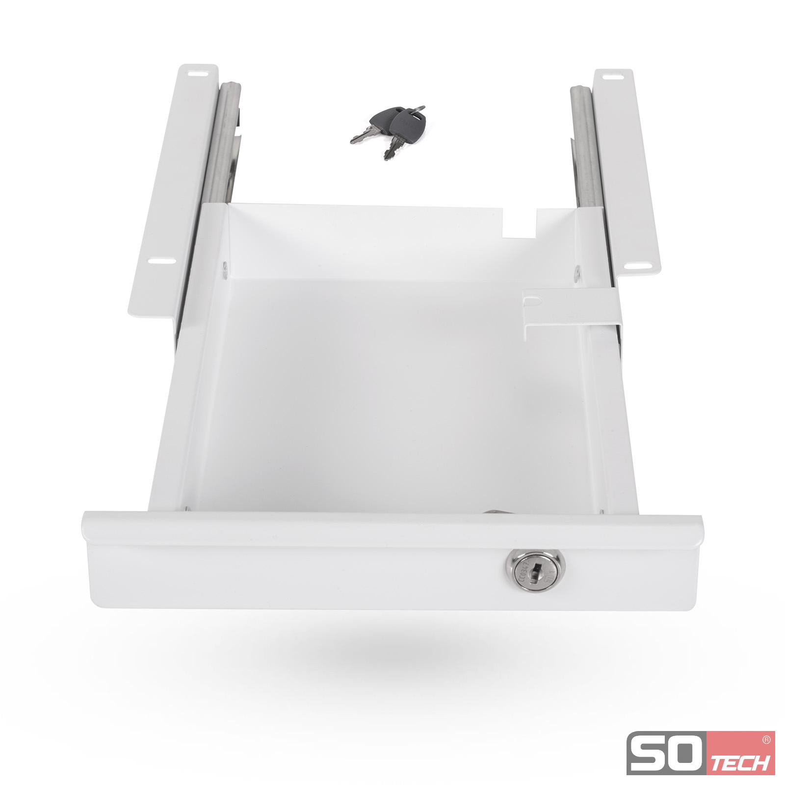 so tech unterbauschublade schreibtisch unterbau schublade h ngeschublade ebay. Black Bedroom Furniture Sets. Home Design Ideas