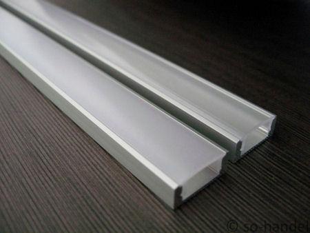 led alu profil 1m aluprofil schiene lichtband aufbau profilschiene streifen ebay. Black Bedroom Furniture Sets. Home Design Ideas