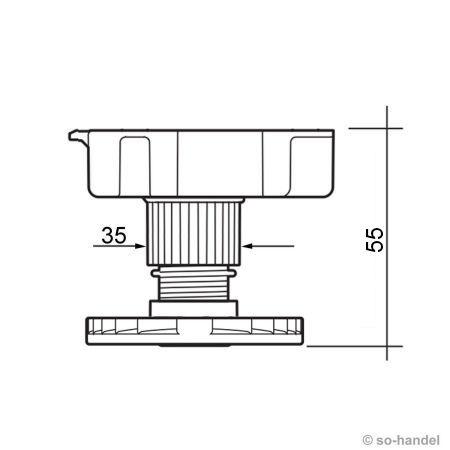 4Stk Küchenfuß Möbelfuß Sockelfuß Stellfuß 55 200 mm für