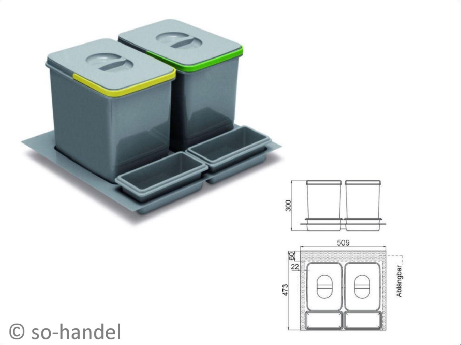 multino abfalltrennsystem abfallsammler m lleimer abfalleimer m lltrenner eimer ebay. Black Bedroom Furniture Sets. Home Design Ideas
