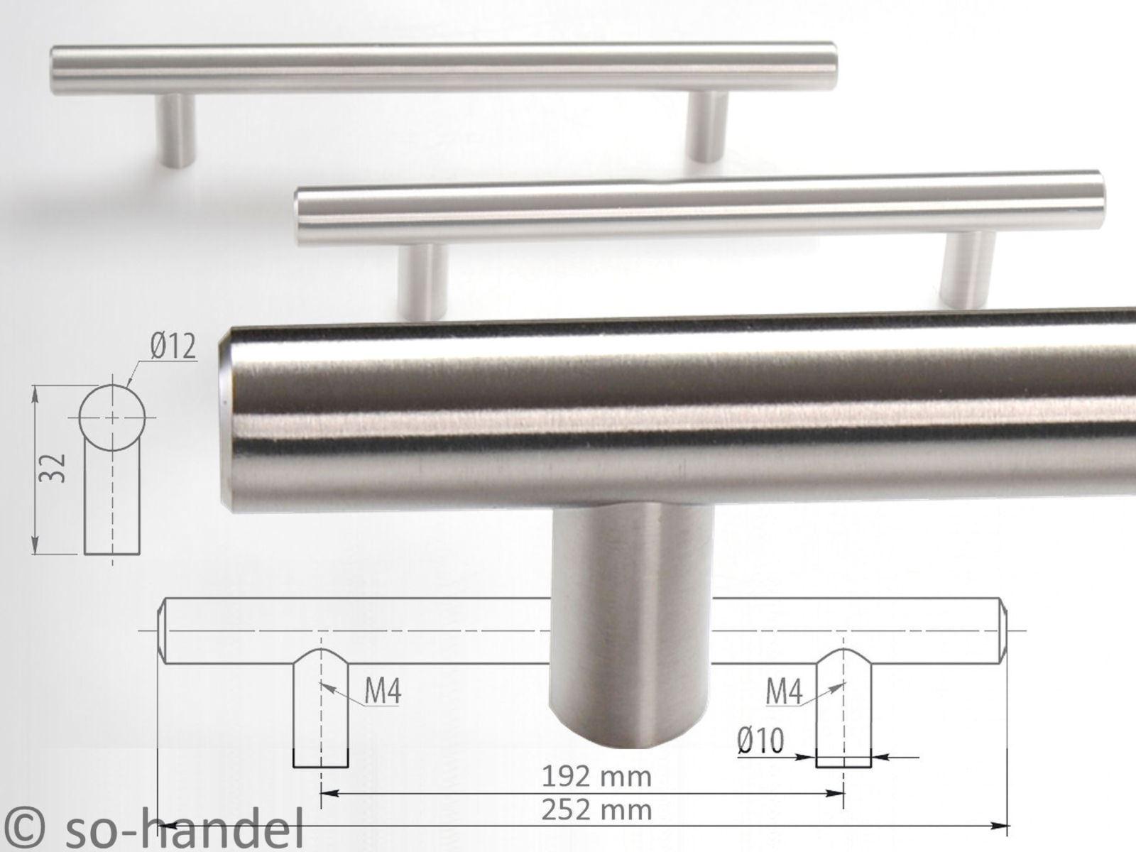 Moebelgriffe-MASSIVER-EDELSTAHL-gebuerstet-Stangengriffe-Kuechengriffe-GRIFF-12mm