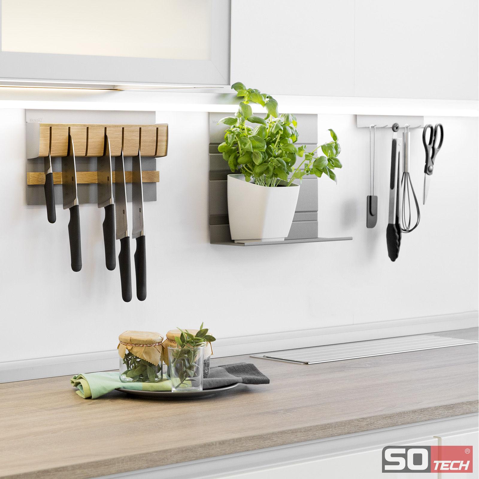 So techr led reling relingsystem groove u linero mosaiq for Relingsystem küche