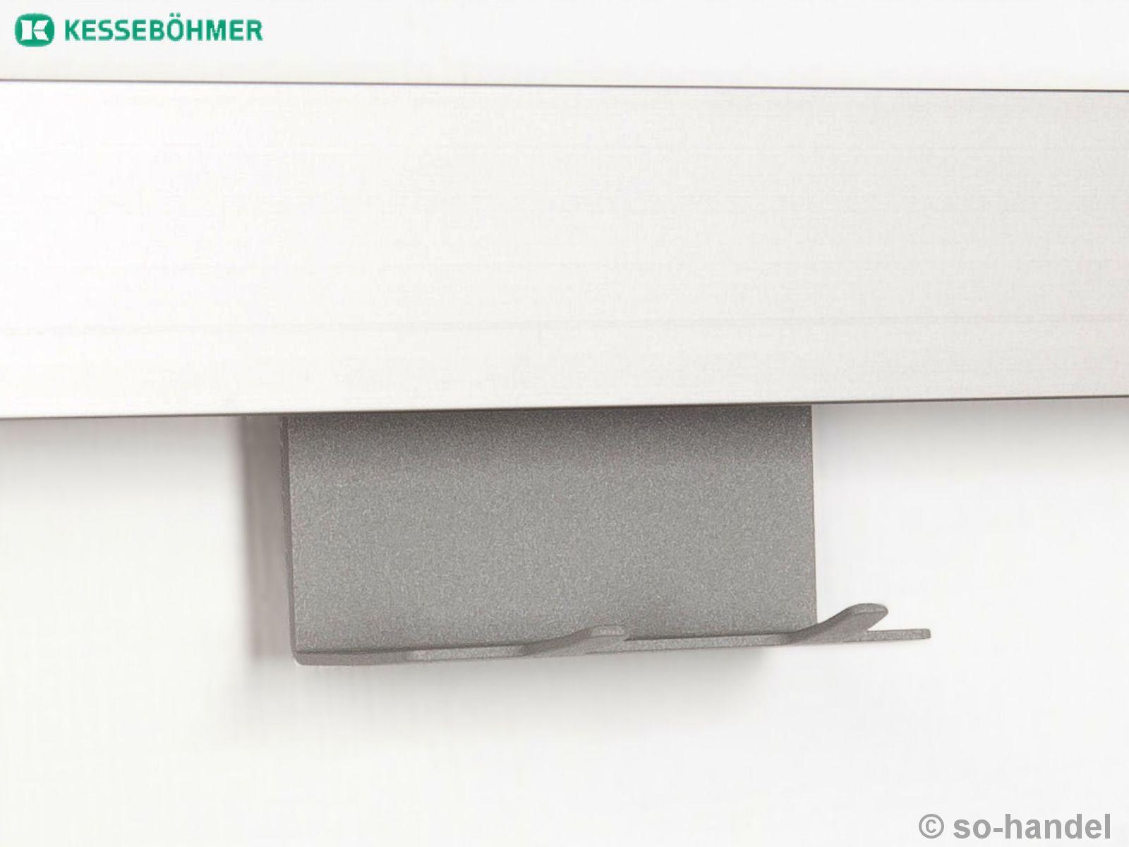 kesseb hmer linero mosaiq hakenleiste graphitschwarz 2 oder 6 haken relingsystem ebay. Black Bedroom Furniture Sets. Home Design Ideas