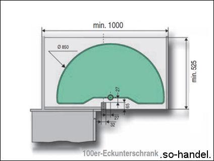 kesseb hmer arena halbkreis 100er eckschrank mit 2 b den. Black Bedroom Furniture Sets. Home Design Ideas