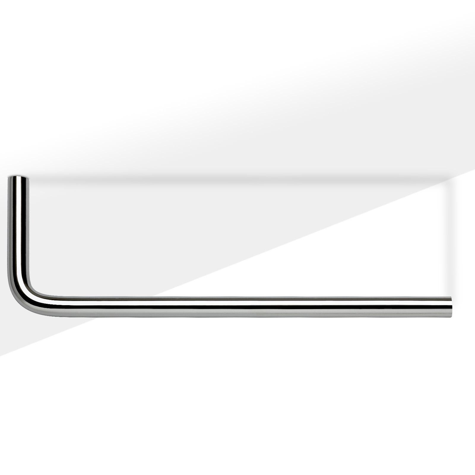 so tech garderobenstange norma ii u form 230 730 mm kleiderstange schrankstange ebay. Black Bedroom Furniture Sets. Home Design Ideas