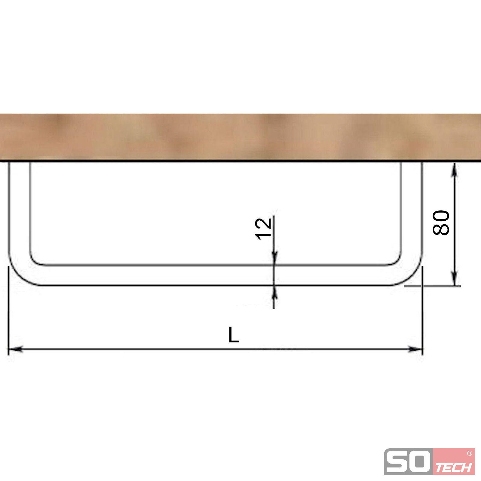 so tech garderobenstange norma ii u form 230 730 mm. Black Bedroom Furniture Sets. Home Design Ideas
