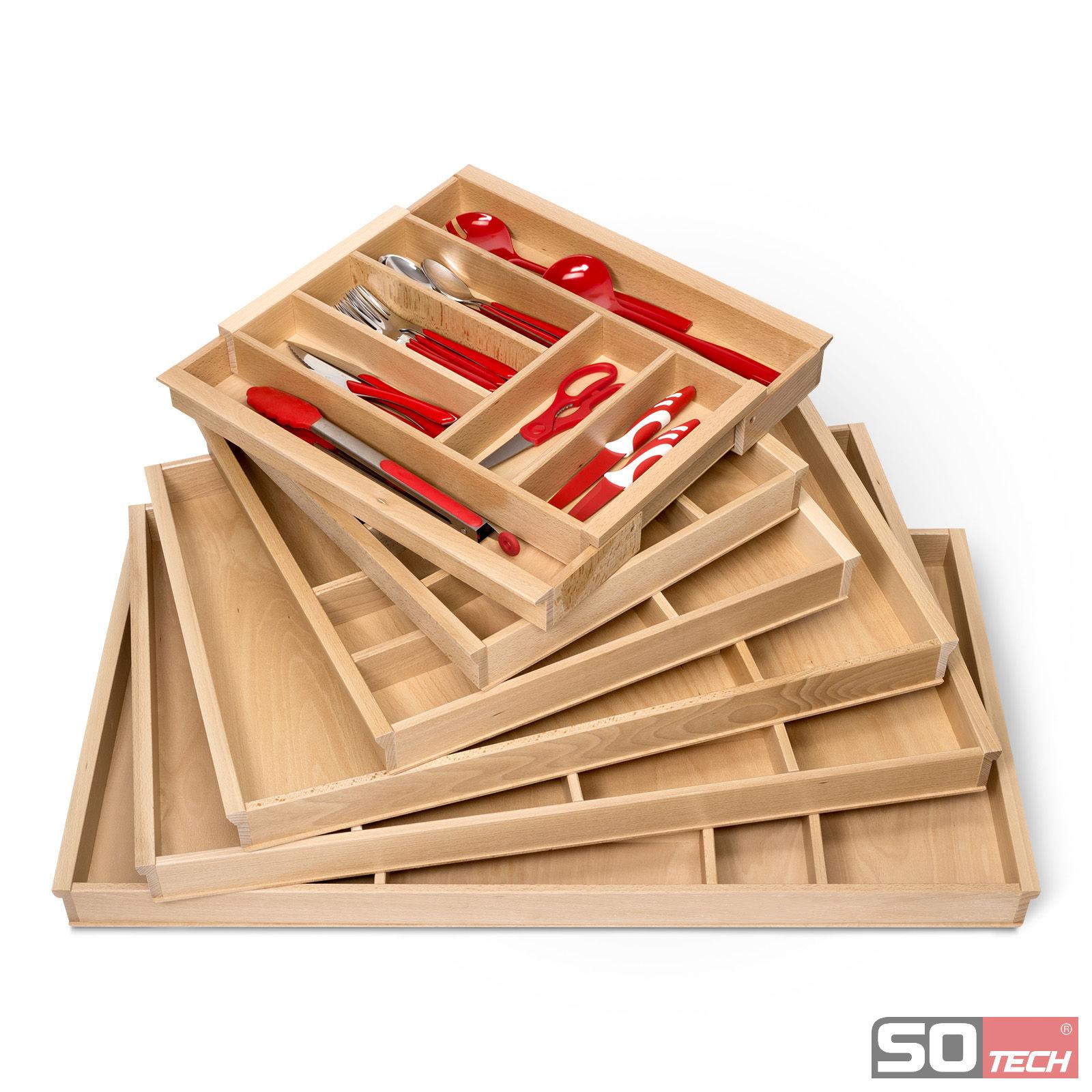 orga box iii besteckkasten 60 cm buchenholz schubladeneinsatz u a f r nobilia ebay. Black Bedroom Furniture Sets. Home Design Ideas