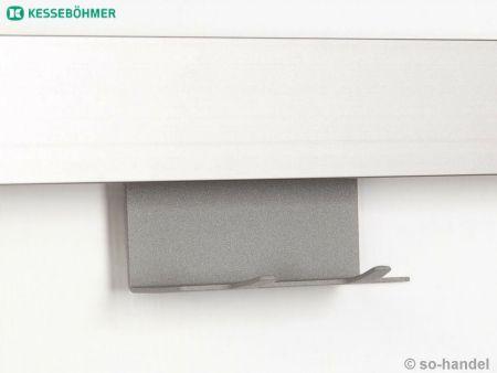 Kesseb hmer linero mosaiq 2er hakenleiste graphit schwarz for Kuchen profilleiste