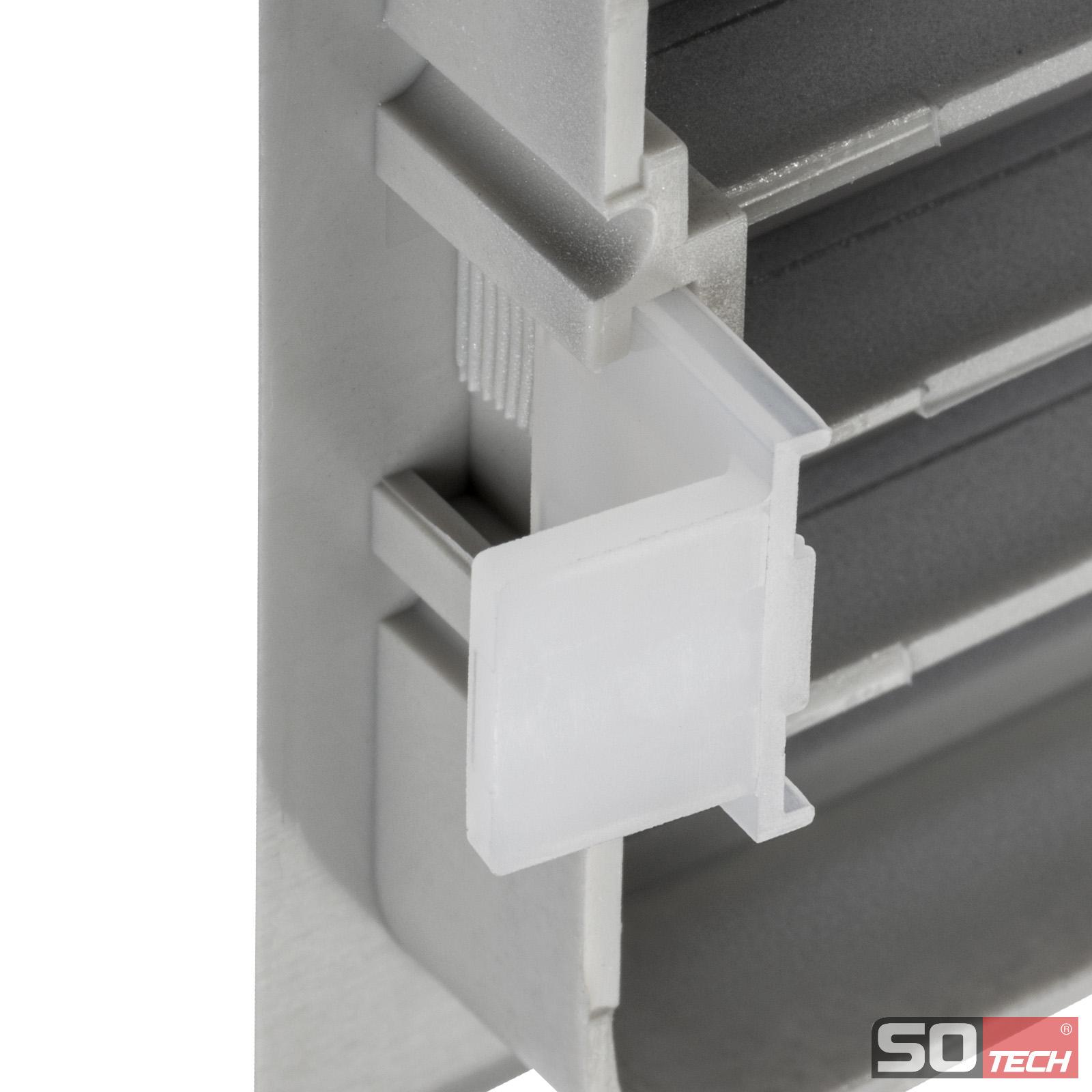SO-TECH® Lüftungsgitter Schlitzlochung 476 mm Belüftung Küche ...