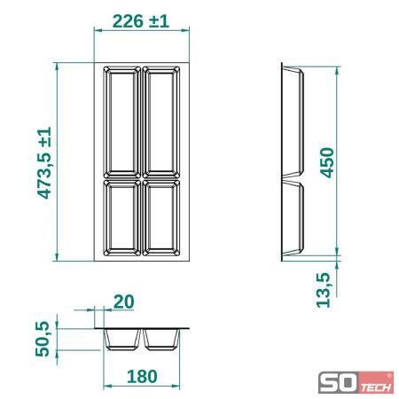 orga box iv universal besteckeinsatz schubkasteneinsatz besteckeinteilung ebay. Black Bedroom Furniture Sets. Home Design Ideas