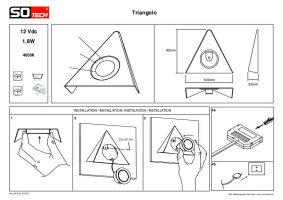 tech triangolo led keilleuchte regalleuchte